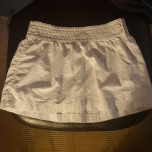White summer mini skirt